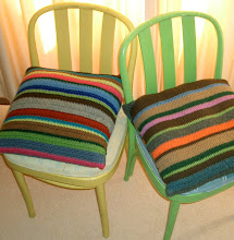 Stripey Crochet Cushions