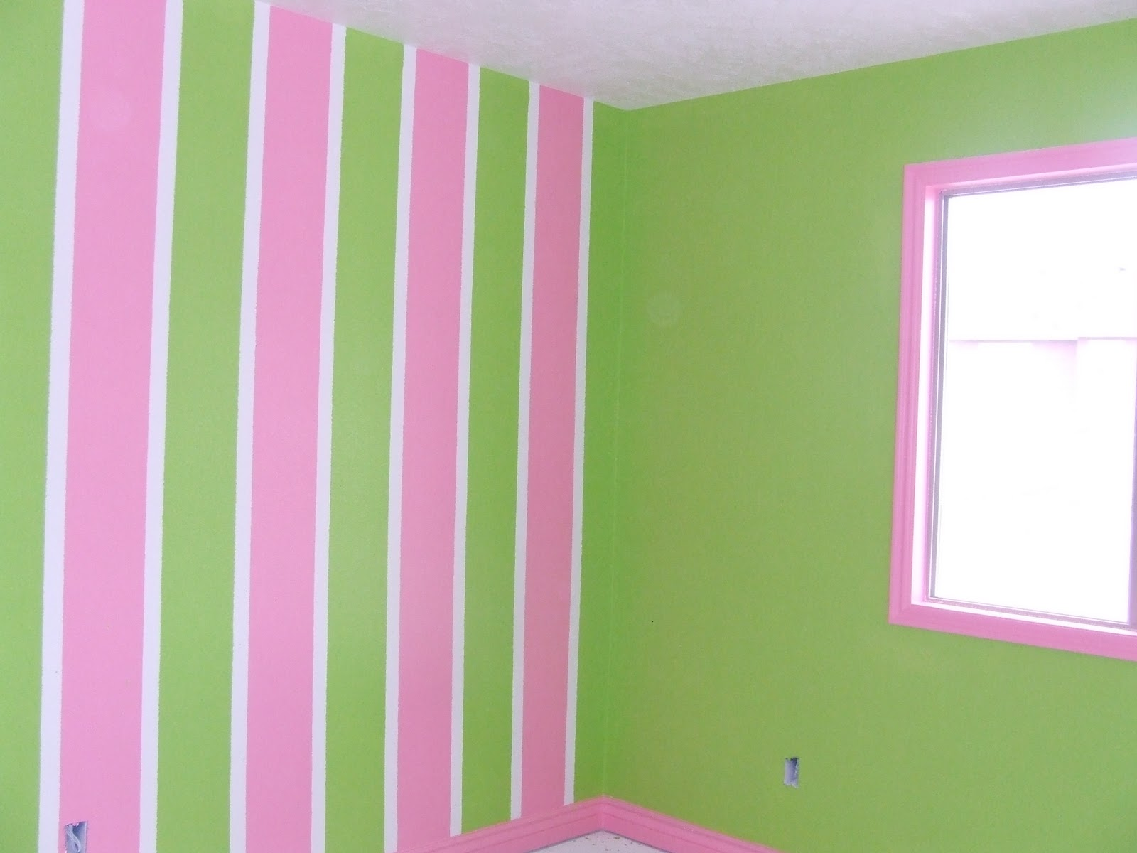 Bedroom Paint Pink We Took This Young Las Favorite Colors And Green Painted