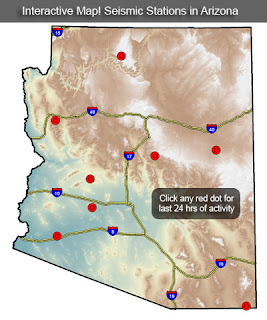 Interactive Map Of Arizona.Arizona Geology Interactive Map Of Arizona Seismic Stations