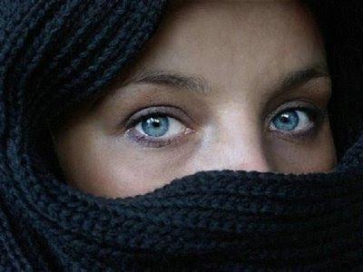 Olhos de cão azul