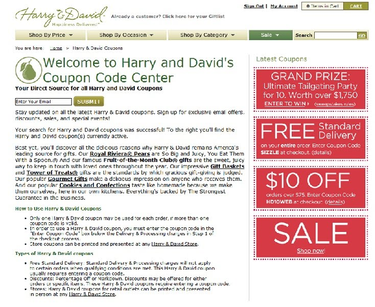 Harry and David has all the gifts you need for every special occasion. Your loved one or co-worker will undoubtedly enjoy a Harry and David gift basket! In Harry and David captured the world's attention when it came to quality goods and fruit with unparalleled customer service.