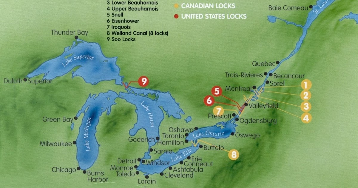 St Lawrence River Us Map