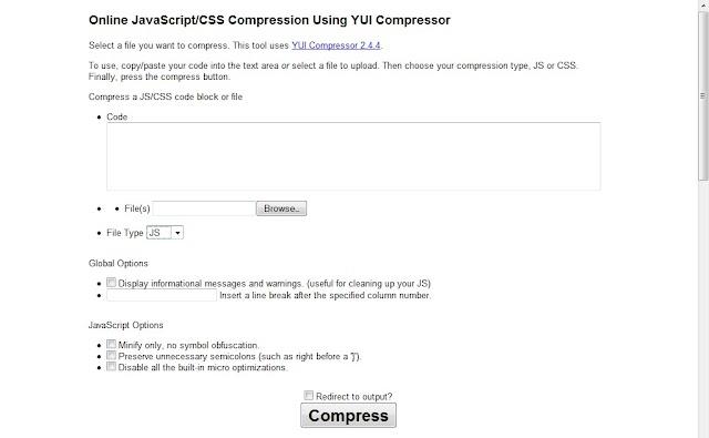 Cara Kompres Kode CSS dan Javasript