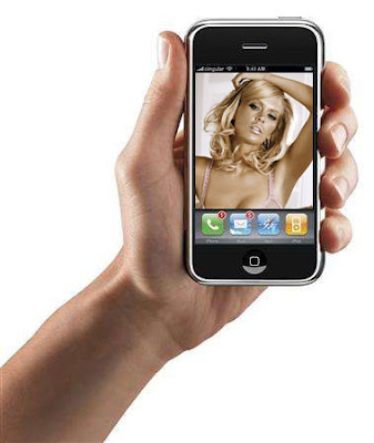 [Picture of Jenna Jameson on an Iphone]