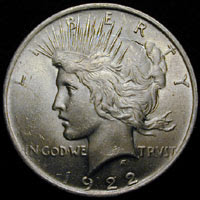 [Picture of 1 Oz Silver Peace Dollar]