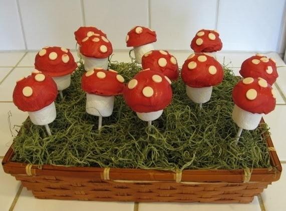 The Paper Pony Easy Marshmallow Mushroom Pops Smurfday