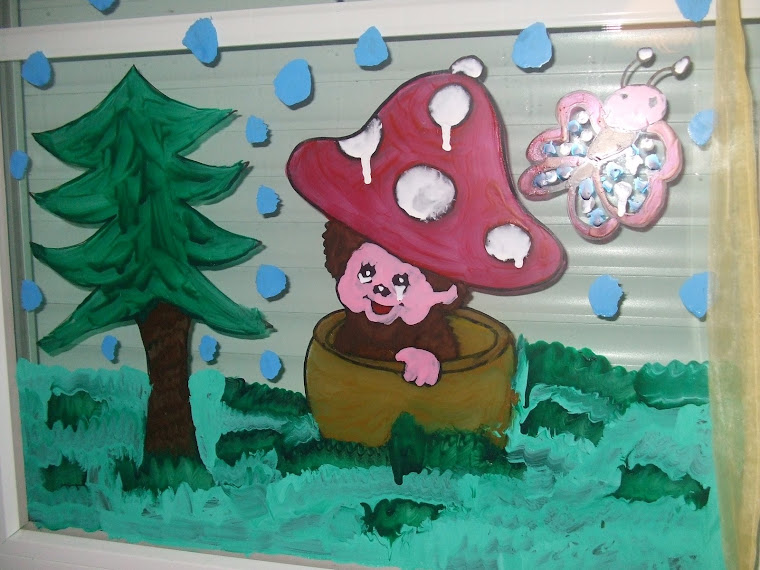 peinture sur carreaux à noel 2007