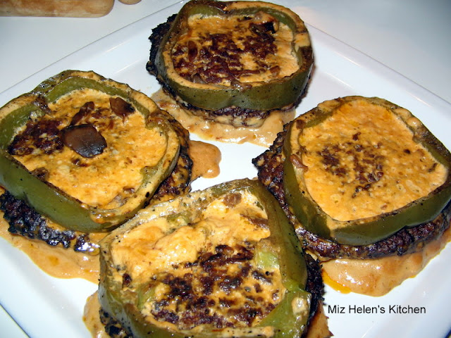 Hamburger Pepper Steaks at Miz Helen's Country Cottage