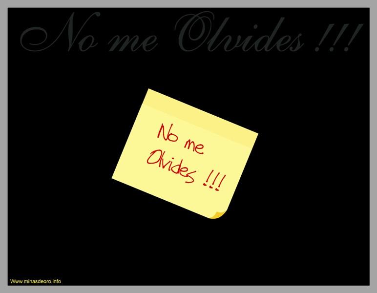 Pequeñas Novelas: NO ME OLVIDES
