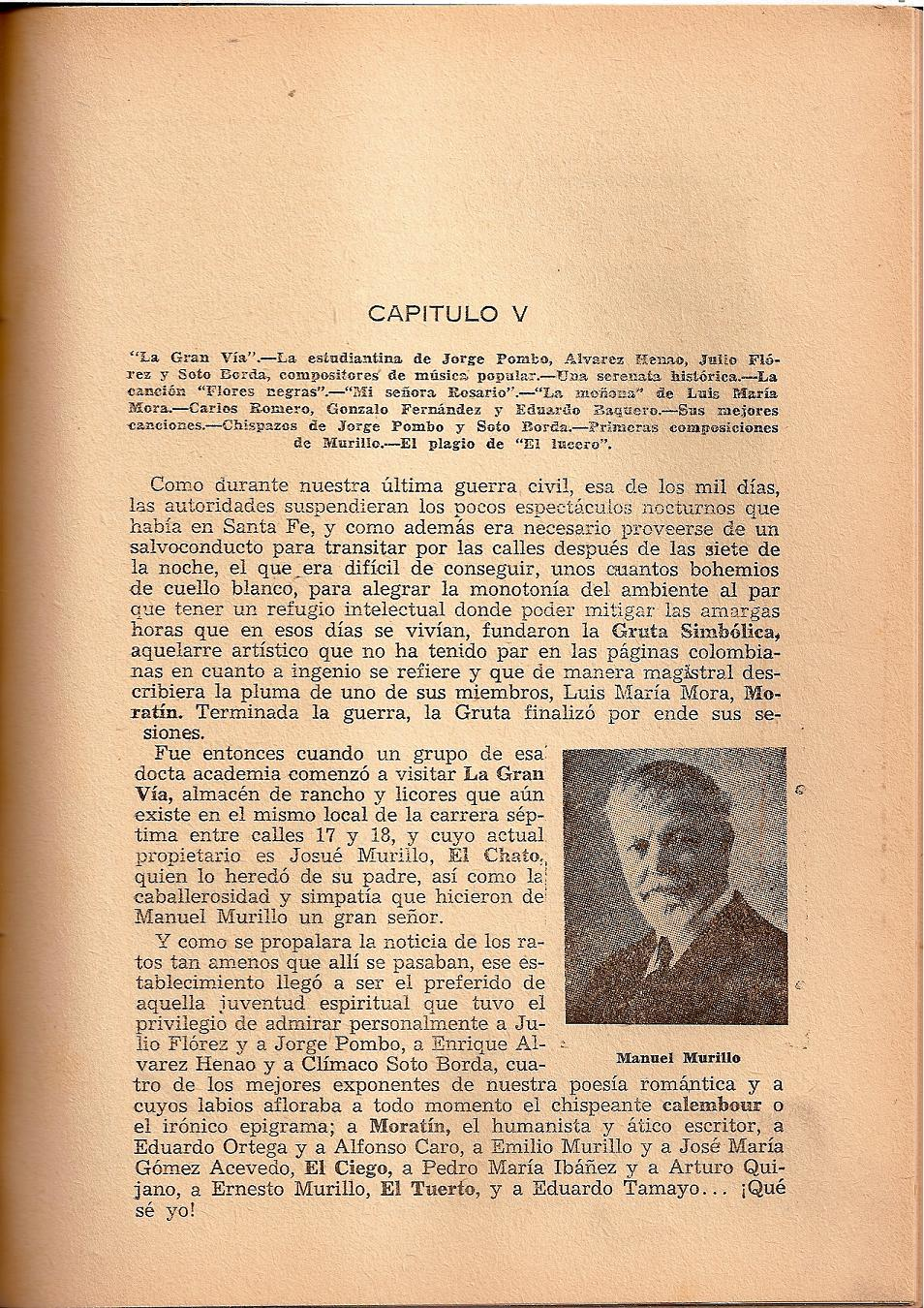 b60540df8 La estudiantina de Jorge Pombo, Álvarez Henao, Julio Flórez y Soto Borda  compositores de música popular. –Una serenata histórica.