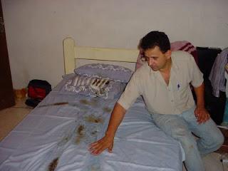 urandir abdução marcas cama