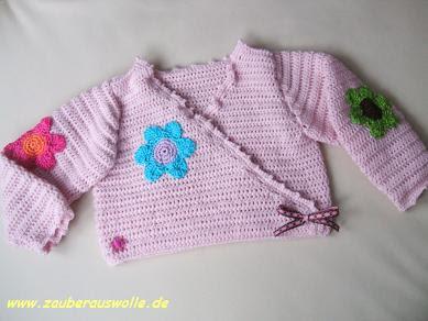 Zauberauswolle Baby Wickeljacke
