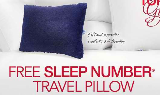 SLEEP NUMBER: FREE Travel Pillow Coupon! — Coupon Pro