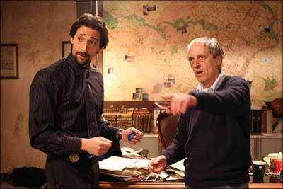 Dario Argento directs Adrien Brody on the set of Giallo
