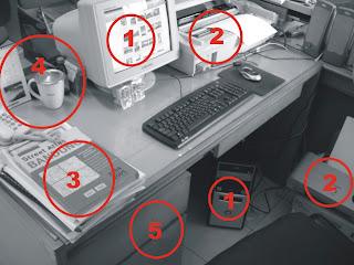 ini foto meja kerja imgar, bukan meja kerjaku :D