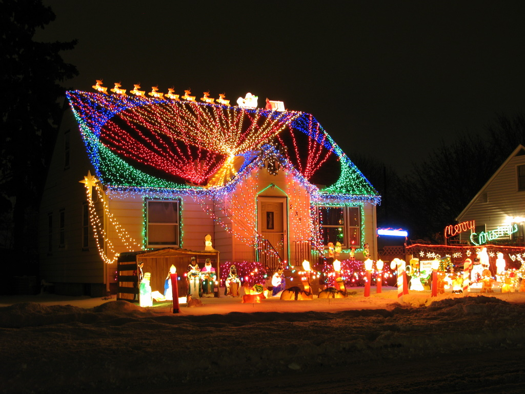 Christmas Lights On Houses.View Woods Christmas Lights On Houses