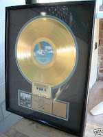 Pretzel Logic gold record award