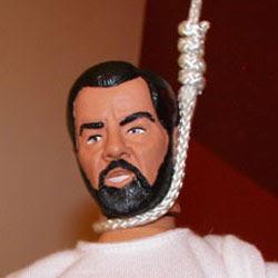 Muñeco de Sadam ahorcado