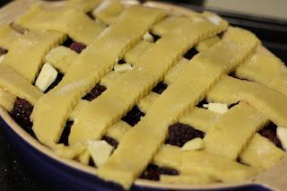 Lattice before baking