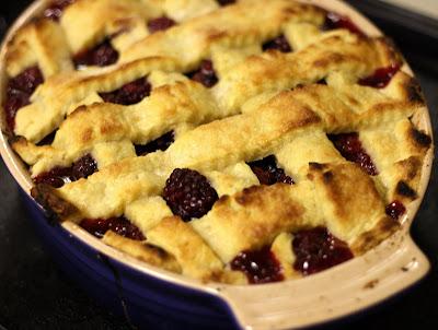 Blackberry Cobbler baked