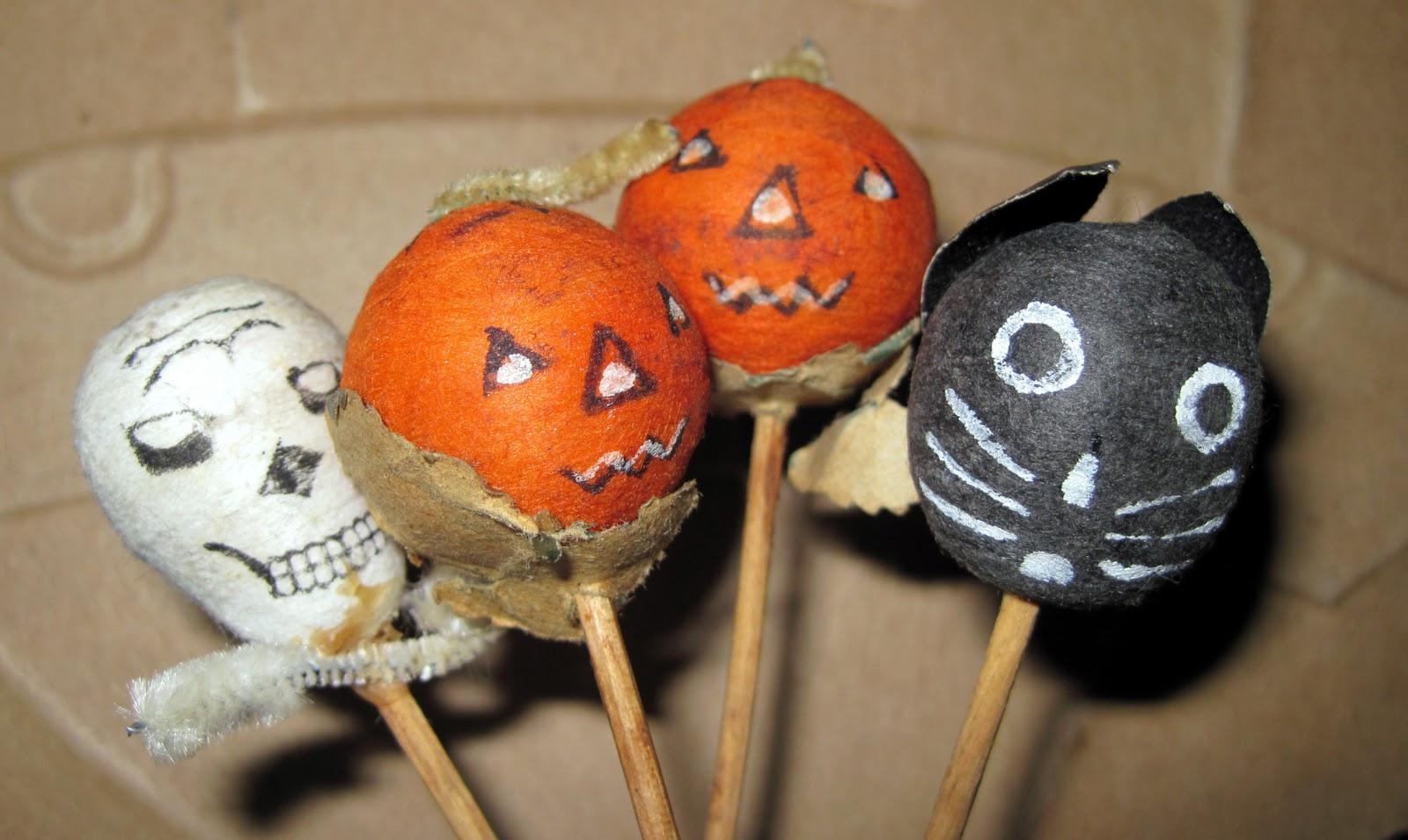 Vintage Halloween Cupcake Picks