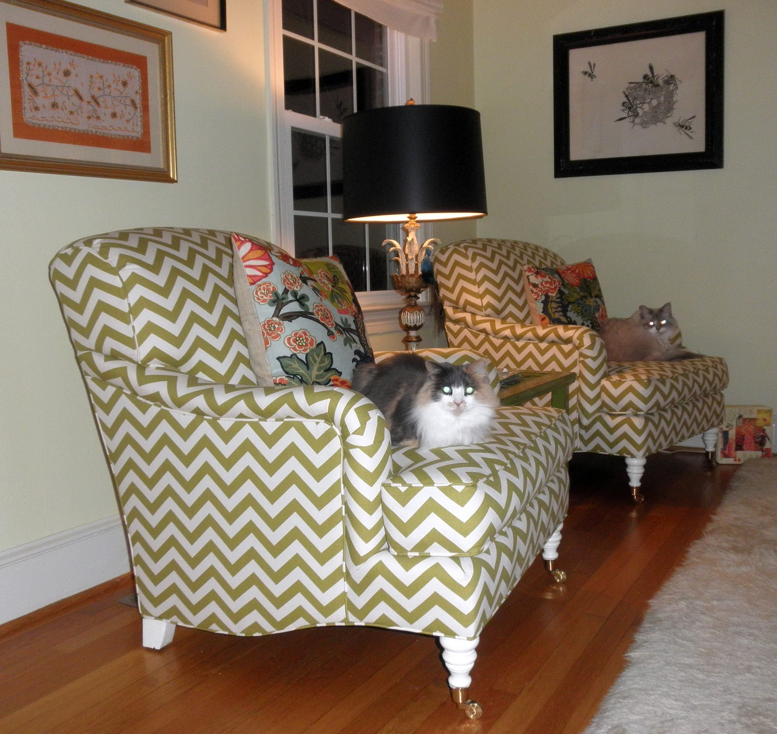 best sofa material for cat owners small chesterfield danielle sigwalt interiors already covered upholstery