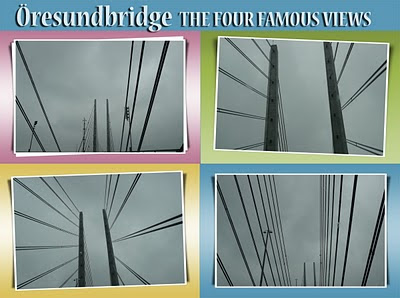 four famous views of the Öresundbridge