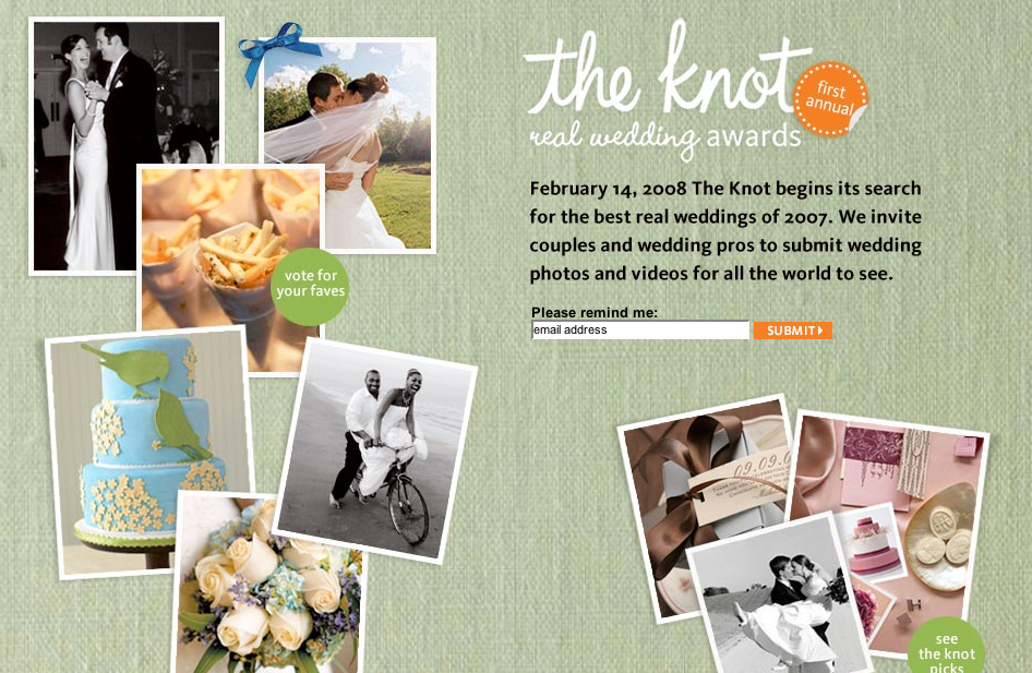 Enjoy : {the Blog}: The Knot Real Wedding Awards
