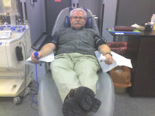 Grandpa Hancock giving platelets
