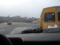 Chec-point entre Jenin i Nablus