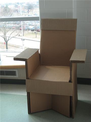 NAMI INTERIORS: Cardboard Chair