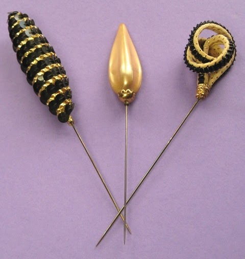 Rare Hat Pins: Vintage Modes: 1950's HAT PINS
