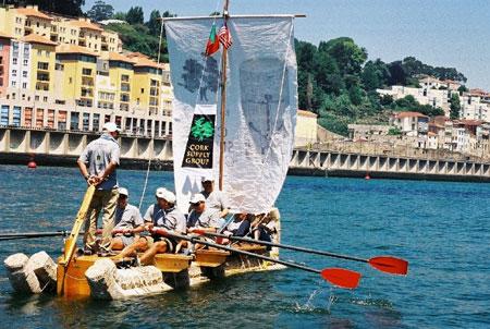 wine cork boat