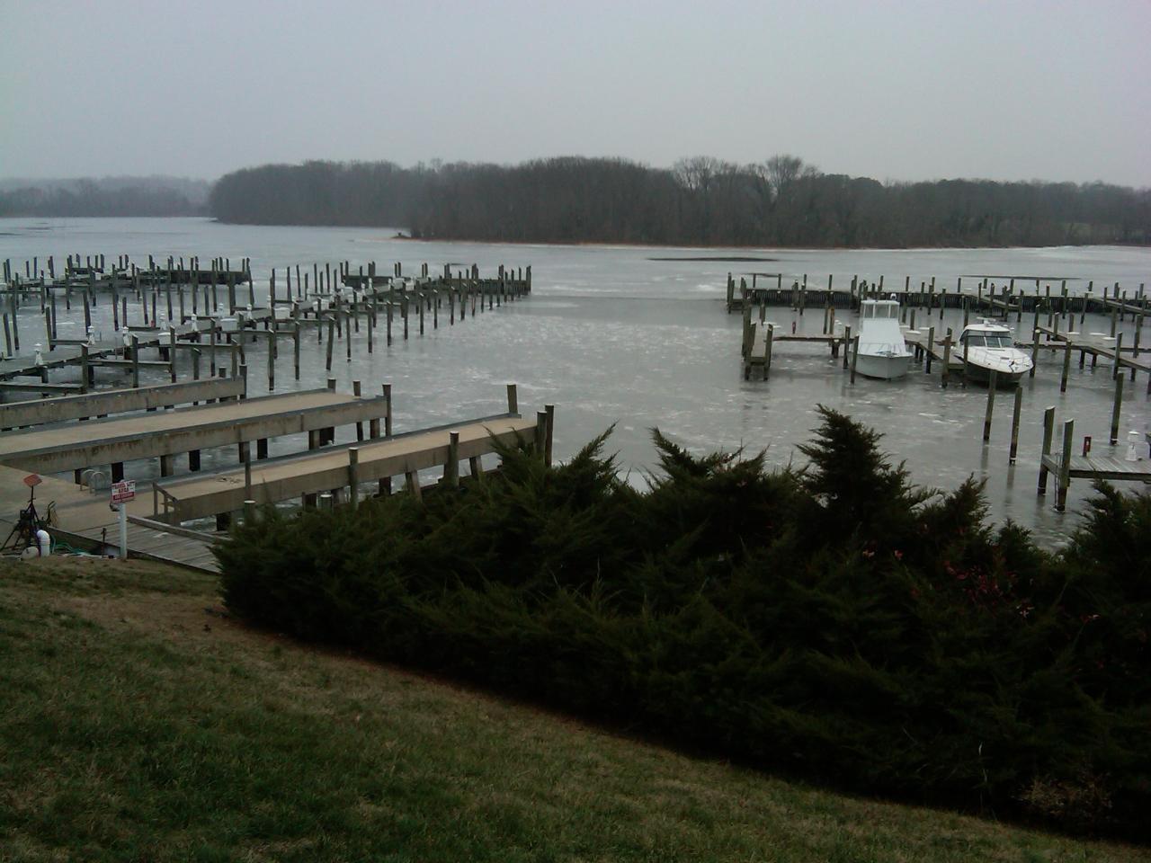 chesapeake bay rivers frozen
