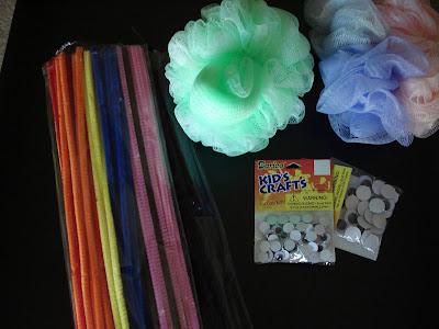 Supplies for Bath Sponge Creatures