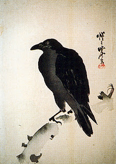 Painting of a crow by Kawanabe Kyosai