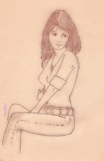 janice, drawing by dsnake1
