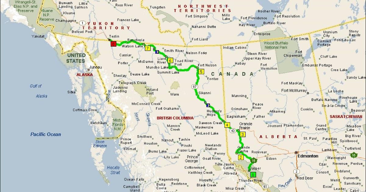 Dawson Creek Canada Map Roving Reports by Doug P: 18 09 Dawson Creek, British Columbia