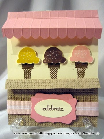 Creations By Patti Ice Cream Awning Card