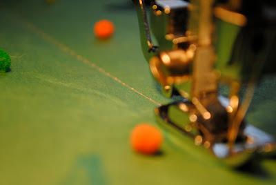 Up close sewing machine