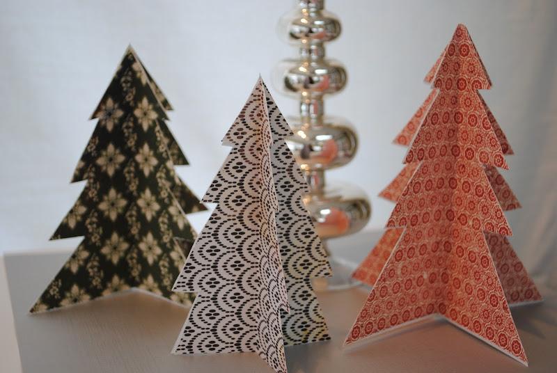 Folded Christmas tree decor