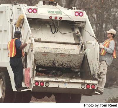 Fetish garbage truck