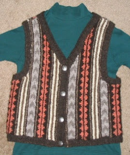 Navajo-Churro Vest designed from Navajo rugs.