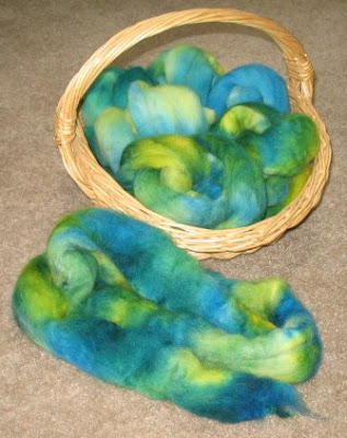 Dried, fluffed, & ready to spin.