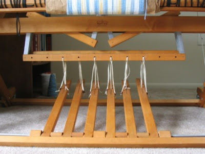 Jacks, lamms, & treadles on the jack loom.