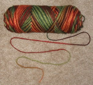 The yarn I chose for my weft.
