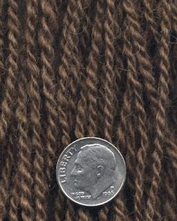 Moorit Shetland yarn.