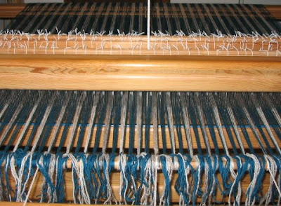 Loom warped for the next afghan.