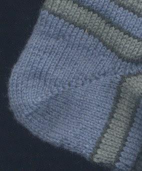 A short row sock heel.