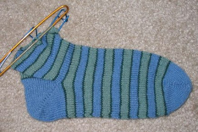 This is how far I've gotten with the 1st sock.